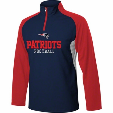 New England Patriots YOUTH 1/4 Zip Lightweight Pullover Jacket