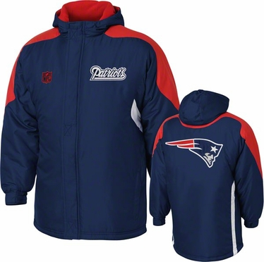 New England Patriots YOUTH Field Goal Midweight Full Zip Hooded Jacket
