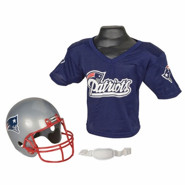 New England Patriots Youth Helmet and Jersey Set