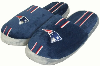 New England Patriots YOUTH Team Stripe Slide Slippers