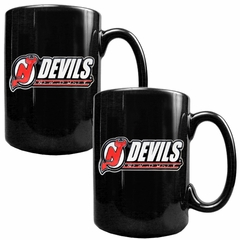 New Jersey Devils 2 Piece Coffee Mug Set (Wordmark)