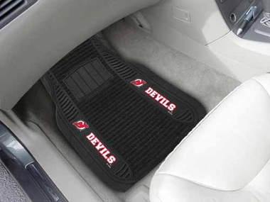 New Jersey Devils 2 Piece Heavy Duty DELUXE Vinyl Car Mats