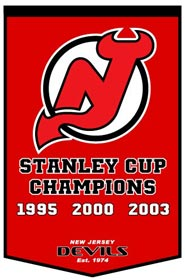 "New Jersey Devils 24""x36"" Dynasty Wool Banner"