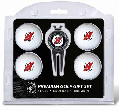 New Jersey Devils 4 Ball and Tool Gift Set