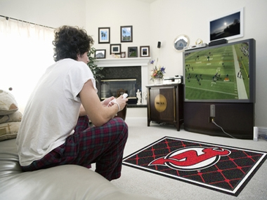 New Jersey Devils 4 Foot x 6 Foot Rug