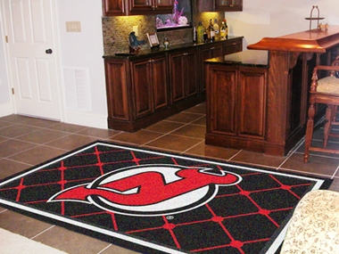 New Jersey Devils 5 Foot x 8 Foot Rug