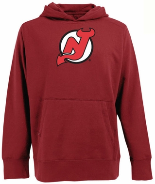 New Jersey Devils Big Logo Mens Signature Hooded Sweatshirt (Team Color: Red)