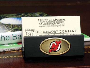 New Jersey Devils Business Card Holder (Black)
