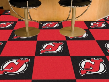 New Jersey Devils Carpet Tiles