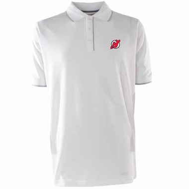 New Jersey Devils Mens Elite Polo Shirt (Color: White)