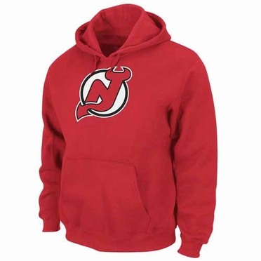 New Jersey Devils Felt Tek Patch Red Hooded Sweatshirt