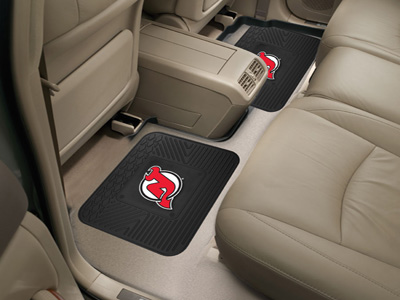 New Jersey Devils SET OF 2 Heavy Duty Vinyl Rear Car Mats