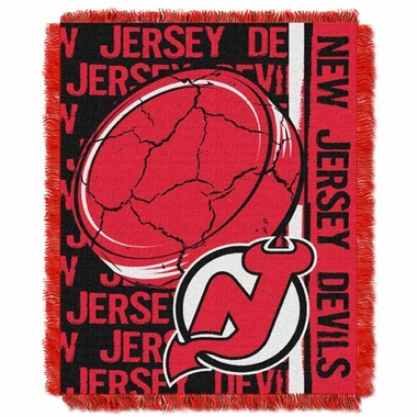 New Jersey Devils Jacquard Woven Throw Blanket