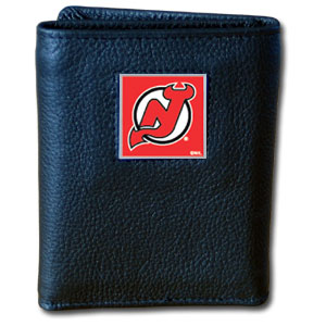 New Jersey Devils Leather Trifold Wallet (F)