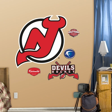 New Jersey Devils Logo Fathead Wall Graphic
