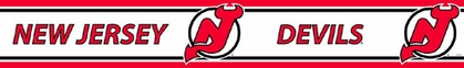 New Jersey Devils Peel and Stick Wallpaper Border