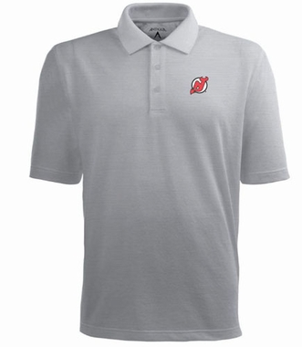 New Jersey Devils Mens Pique Xtra Lite Polo Shirt (Color: Gray)