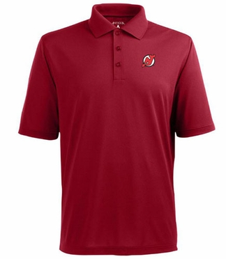 New Jersey Devils Mens Pique Xtra Lite Polo Shirt (Team Color: Red)