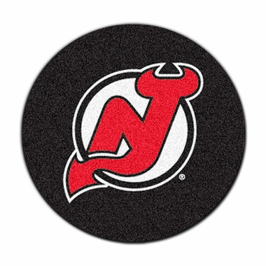 New Jersey Devils 27 Inch Puck Shaped Rug