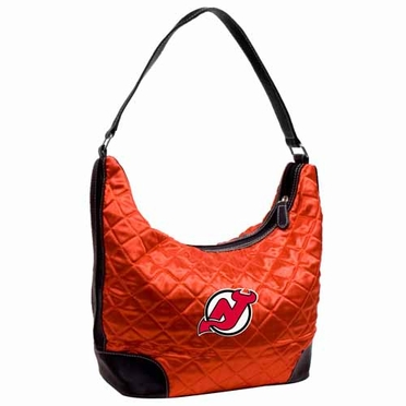 New Jersey Devils Quilted Hobo Purse