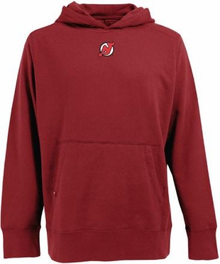 New Jersey Devils Mens Signature Hooded Sweatshirt (Team Color: Red)