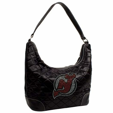 New Jersey Devils Sport Noir Quilted Hobo