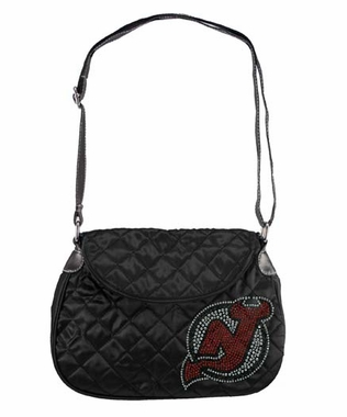 New Jersey Devils Sport Noir Quilted Saddlebag