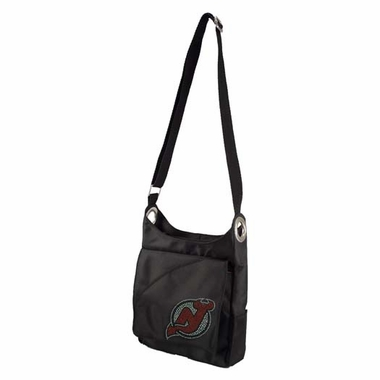 New Jersey Devils Sport Noir Sheen Crossbody Bag