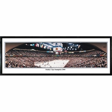New Jersey Devils Stanley Cup Champions 2000 Framed Panoramic Print