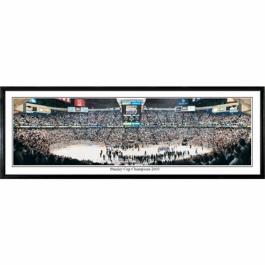 New Jersey Devils Stanley Cup Champions 2003 Framed Panoramic Print