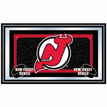 New Jersey Devils Team Logo Bar Mirror