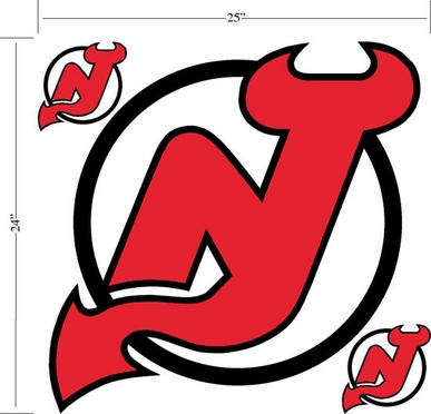 New Jersey Devils Wallmarx Large Wall Decal