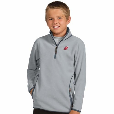 New Jersey Devils YOUTH Unisex Ice Polar Fleece Pullover (Color: Gray)