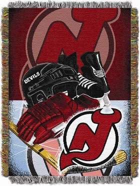 New Jersey Devils Woven Tapestry Blanket