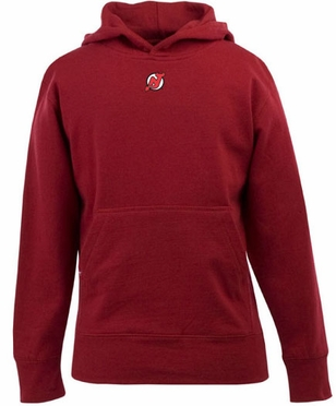 New Jersey Devils YOUTH Boys Signature Hooded Sweatshirt (Team Color: Red)