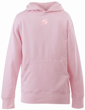 New Jersey Devils YOUTH Girls Signature Hooded Sweatshirt (Color: Pink)