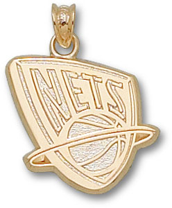 New Jersey Nets 10K Gold Pendant