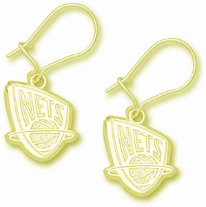 New Jersey Nets 10K Gold Post or Dangle Earrings
