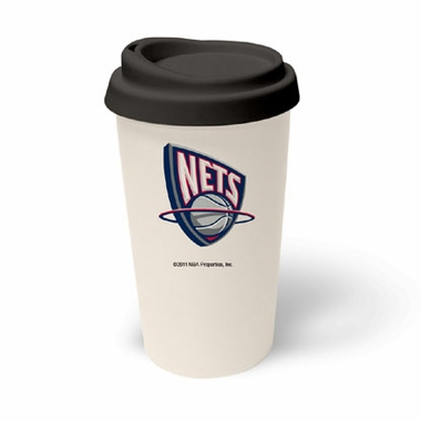 New Jersey Nets Ceramic Travel Cup