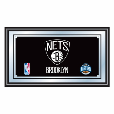 Brooklyn Nets Framed Logo Bar Mirror