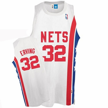 New Jersey Nets Julius Erving Adidas Team Color Throwback Replica Premiere Jersey