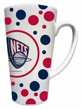 New Jersey Nets Polkadot 16 oz. Ceramic Latte Mug