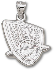 New Jersey Nets Sterling Silver Pendant