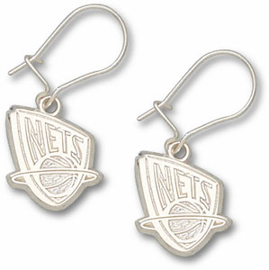 New Jersey Nets Sterling Silver Post or Dangle Earrings