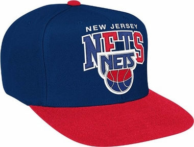 New Jersey Nets Throwback Tri-Pop Snap Back Hat