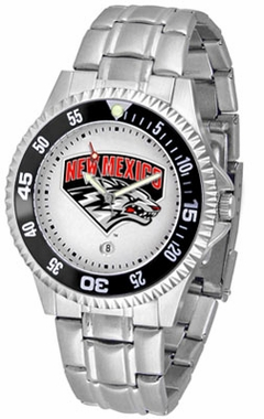 New Mexico Competitor Men's Steel Band Watch