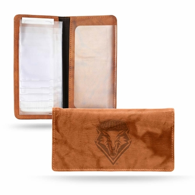 New Mexico Embossed Leather Checkbook Cover