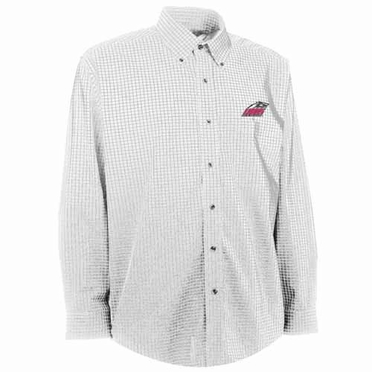 New Mexico Mens Esteem Check Pattern Button Down Dress Shirt (Color: White)