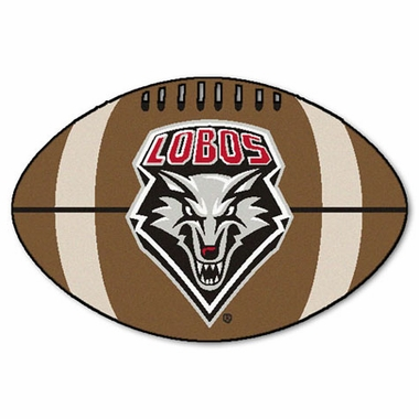 New Mexico Football Shaped Rug