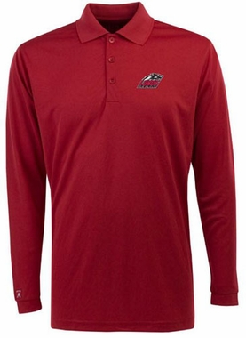 New Mexico Mens Long Sleeve Polo Shirt (Color: Red)